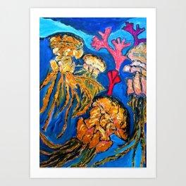 Jelly Fish   #society6   #decor  #buyart Art Print