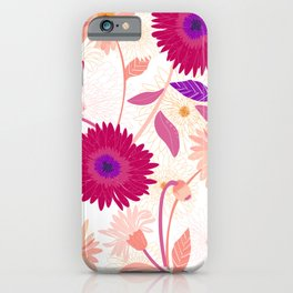 Colorful gerbera floral pattern iPhone Case