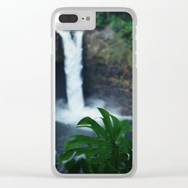 Hawaii Falls Clear iPhone Case