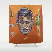 pilot Shower Curtains featuring Pilot by Terry Luc