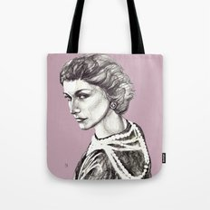 Coco portrait with pearls Tote Bag