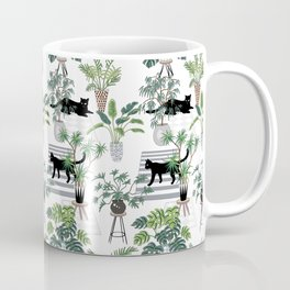cats in the interior pattern Coffee Mug