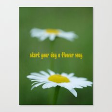 A Flower Way Canvas Print