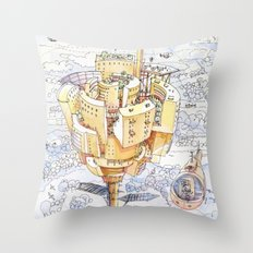 The Flower City Throw Pillow