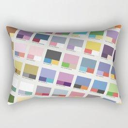 Poke-Pantone 4 (Sinnoh Region) Rectangular Pillow