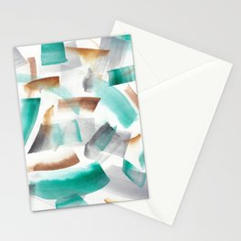 180719 Koh-I-Noor Watercolour Abstract 32| Watercolor Brush Strokes Stationery Cards