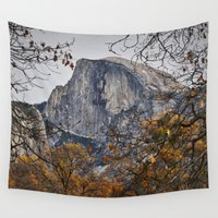 yosemite Wall Tapestries featuring Half Dome, Yosemite, California by Kelly Moncure
