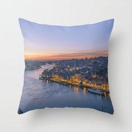 The view from Serra do Pilar - Porto and Gaia Throw Pillow