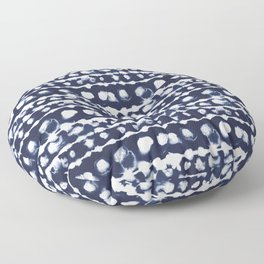 Dye Dot Stripe Indigo Floor Pillow