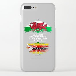 Welsh Grown With Zimbabwean Roots Clear iPhone Case
