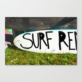 Surf Board Surfing Ocean Beach Summer Sports Pacific West Coast Swimming Lifeguard Pool Northwest Canvas Print