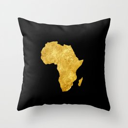 Gold Africa Throw Pillow