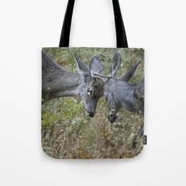 Butting Heads Tote Bag