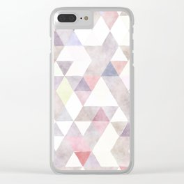 Modern abstract geometrical pastel tones watercolor Clear iPhone Case