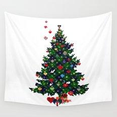 Plaid Christmas Tree Wall Tapestry
