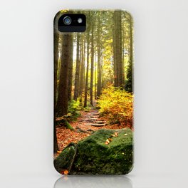 Path Through The Trees - Landscape Nature Photography iPhone Case