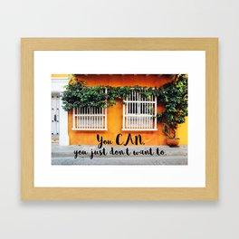 Cartagena de Indias street Framed Art Print