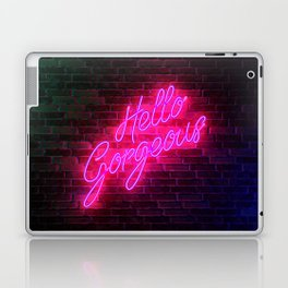 Hello Gorgeous - Neon Sign Laptop & iPad Skin