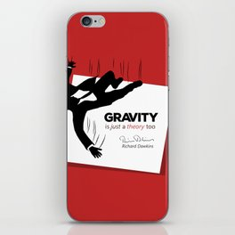 """Quote: """"Just a theory..."""" iPhone Skin"""