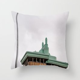 Modern architecture building in Madrid Throw Pillow