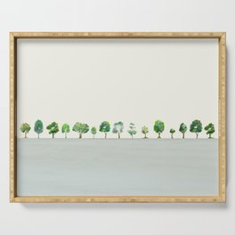 A Row Of Trees Serving Tray