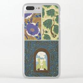 Art Deco vintage pattern Clear iPhone Case