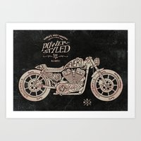Power Styled Motorcycle Art Print