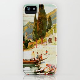 Switzerland and Italy Via St. Gotthard Travel Poster iPhone Case