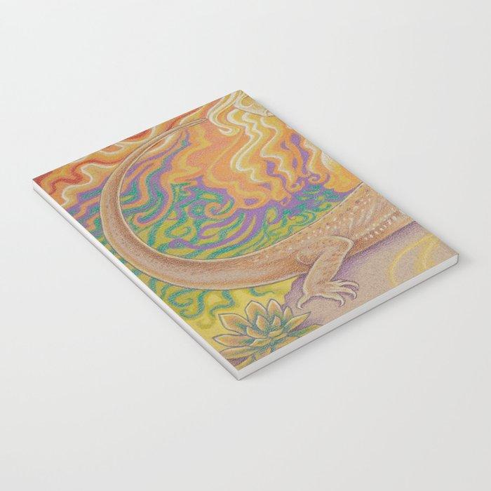 Sun And Dragon, Bearded Dragon Art Notebook