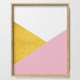 Gold & Pink Geometry Serving Tray