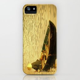 Vietnamese Boat at Sunset iPhone Case