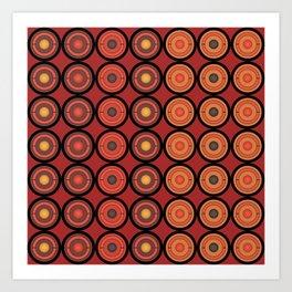 Circles and centers Art Print
