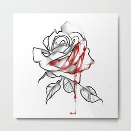 Painting the roses bloody and red Metal Print