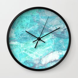 Marble Turquoise Blue Agate Wall Clock