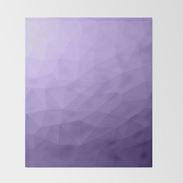 Ultra violet purple geometric mesh Throw Blanket