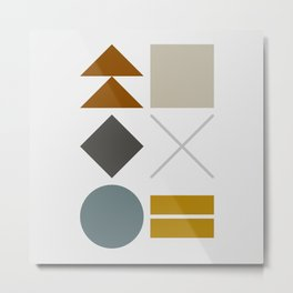 Mid West Geometric 02 Metal Print