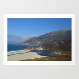 Monterey coast highway Art Print