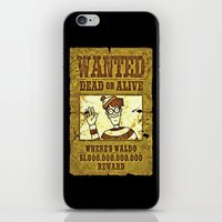 waldo iPhone & iPod Skins featuring Where's Waldo Wanted Poster by Silvio Ledbetter