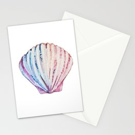 Rainbow ombre clam Stationery Cards