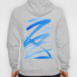 Blue Abstract Painting Hoody
