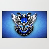 ravenclaw Area & Throw Rugs featuring HARRY POTTER RAVENCLAW by Veylow