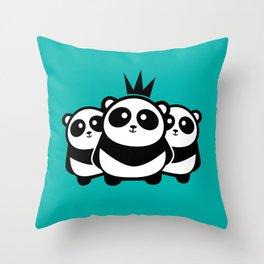 Panda Gang Throw Pillow