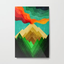 Vulcan Mountain Metal Print