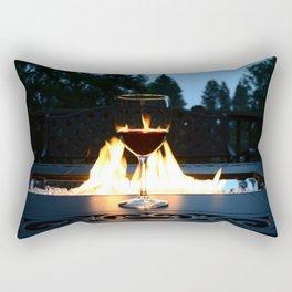 Fireside Wine I Rectangular Pillow