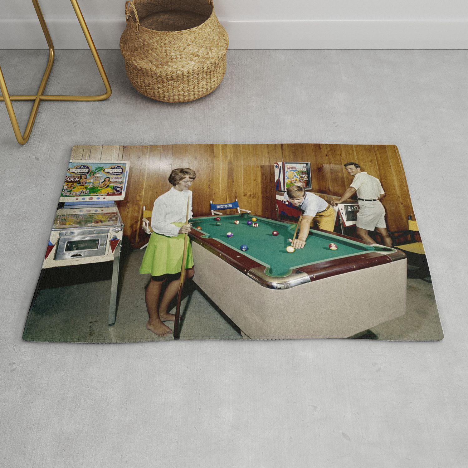 Room With Pinball And A Pool Table