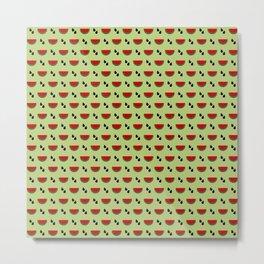 Fruit Neck Gator Watermelon Seeds Metal Print