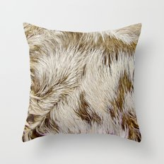 Boca Sloth coat  Throw Pillow