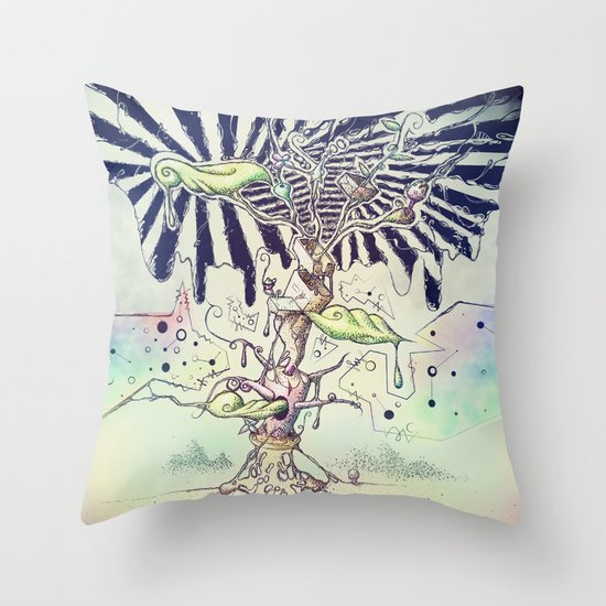 Magic Beans Throw Pillow