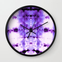 Violet Shibori Satin Wall Clock