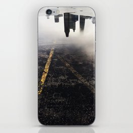 Reflection of Chicago in a Puddle iPhone Skin